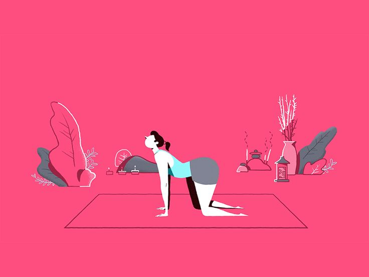 Yoga Poses by Anchor Point #Design Popular #Dribbble #shots