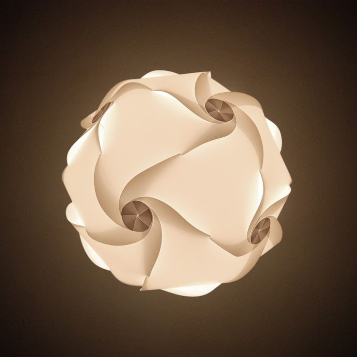 lumino VANE - skládací designové stínidlo složené z 20 stejných dílků vyřezávaných speciální technikou - průměr složeného stínidla je 35 cm - ideální do všech obytných místností, restaurací, klubů atd... Balení obsahuje: - 20 dílků z bílé fólie - návod na složení stínidla Poskytujeme 14 denní záruku vrácení pěnez:)