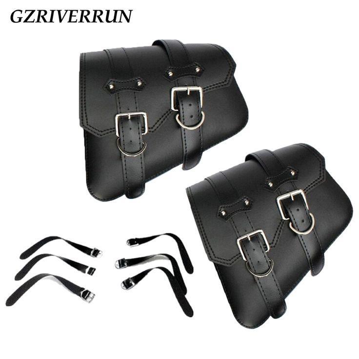 check discount gzriverrun pu leather saddlebag for harley davidson sportster xl 883 1200 black 2pcs #space #store
