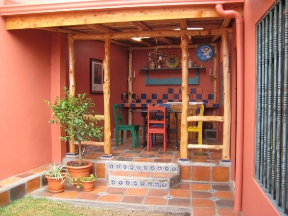 17 best ideas about mexican patio on pinterest mexican for Mexican porch designs