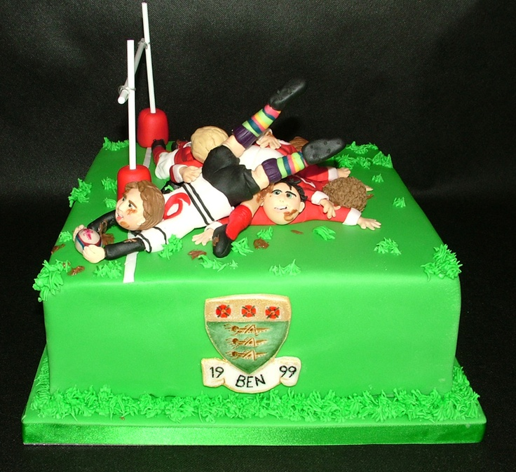 Cake Decorating Ideas Rugby : Nice Try! Rugby Cake Jacob s 7th birthday Pinterest ...