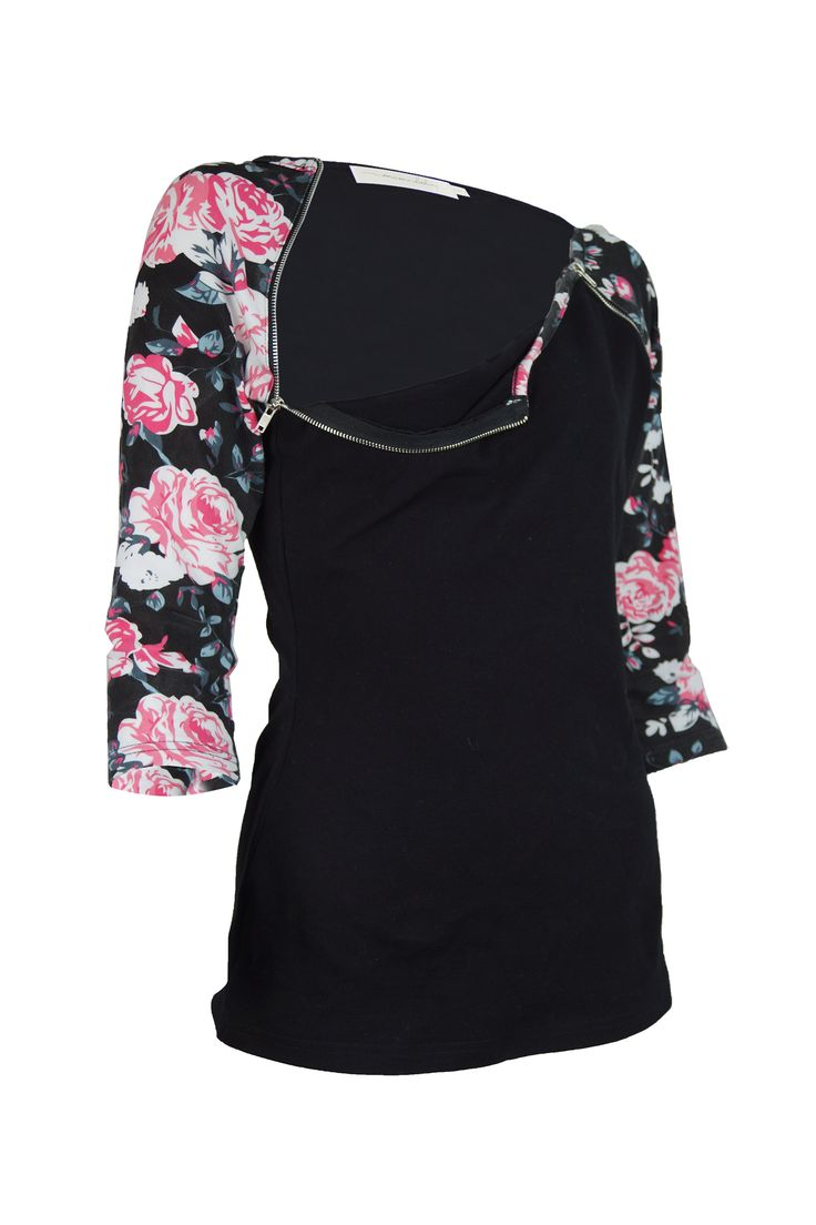 Melody Breastfeeding Top.   Pinterest Special $34.95 !  Featuring a rounded neckline, it sports feature zips in the floral contrast to discreetly hide breastfeeding access.  Simply unzip to feed your precious babe!  It is the perfect breastfeeding shirt for the cooler months.  Breastfeeding top / breast feeding top / Nursing top