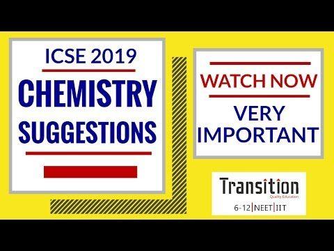 ICSE 2019 Chemistry Class 10 Suggestions I ICSE 2019
