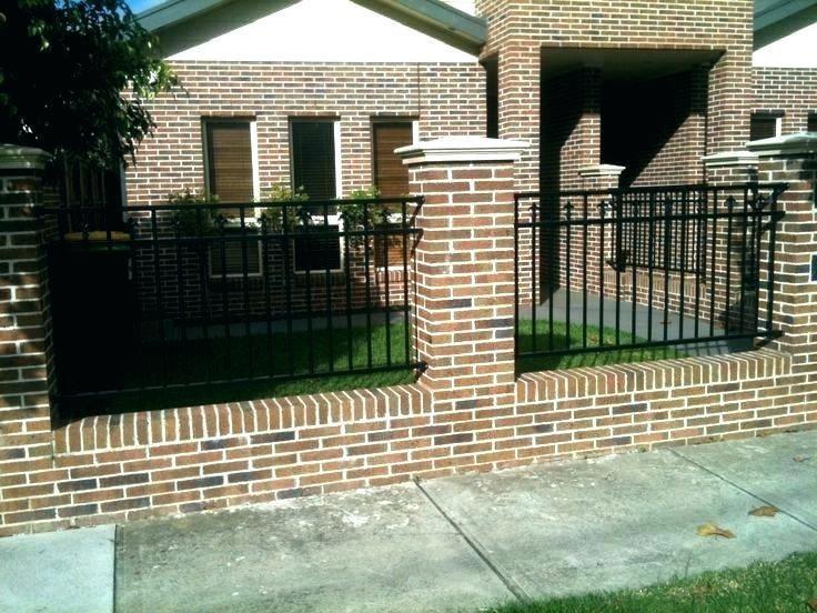 Brick Fence Ideas Brick Fence Ideas Brick Fence Cost Brick Wall Fence Designs Ro Brick Cost Designs Fence Id In 2020 House Fence Design Fence Design Brick Fence