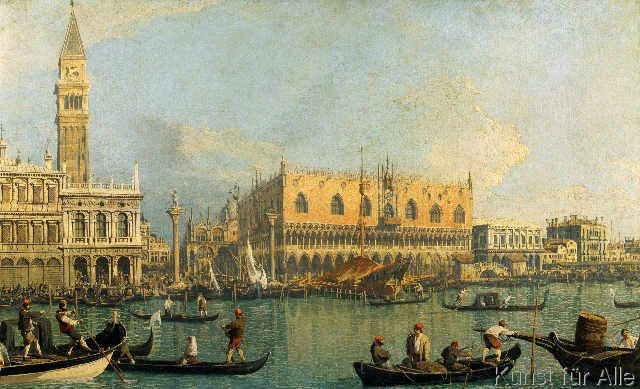 Giovanni Antonio Canaletto - Der Dogenpalast und der Markusplatz