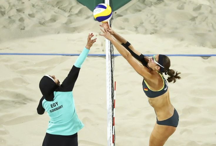When traditional society and the modern world clash. How can cultures modernise and still hold to their traditional values? When Nada Meawad and Doaa Elghobashy made their Olympic debut in beach volleyball in a hijab and long sleeves, they caught the attention of the world.