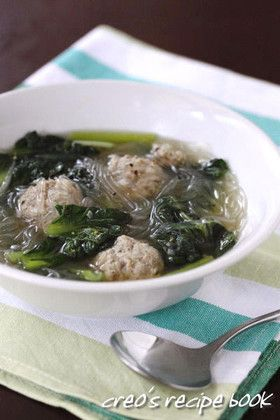 ターサイと肉団子の春雨スープ by cureo [クックパッド] 簡単おいしい ...