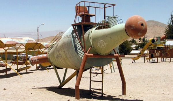 Chilean Miners Playground in Chuquicamata, Chile.