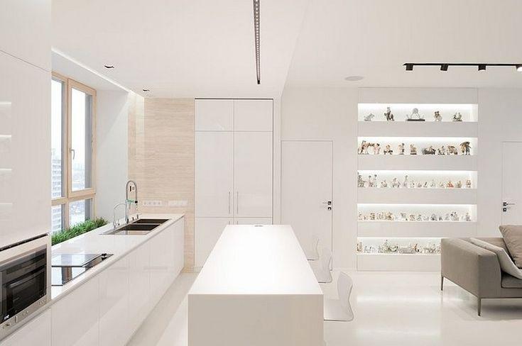 минималистская кухня в белом