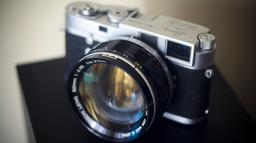 Leica w/ Canon f/.95 Lens.  How fast is that!