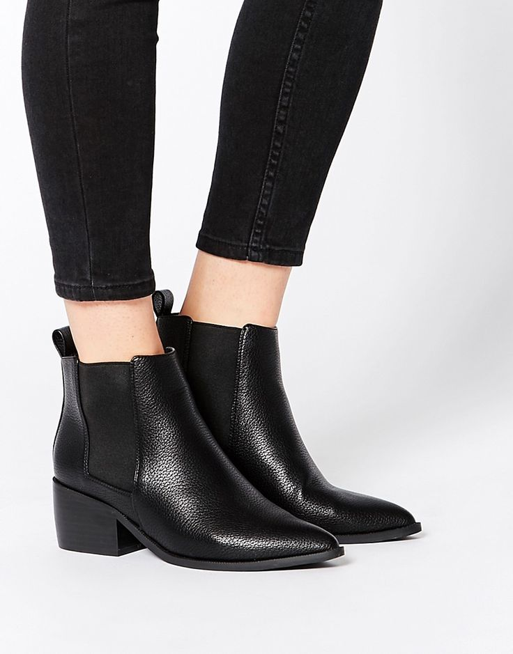 Image 1 of ASOS RIGHT ABOUT NOW Western Pointed Chelsea Ankle Boots