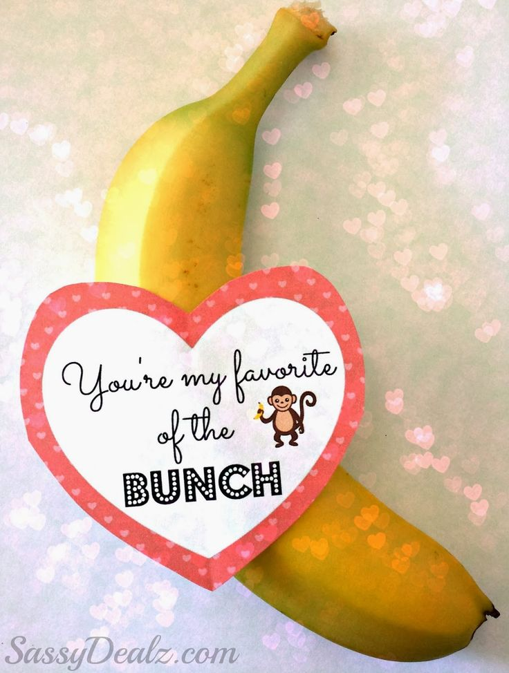 "DIY Banana Valentine's Day Gift Idea - ""You're My Favorite of the Bunch"" - Crafty Morning"