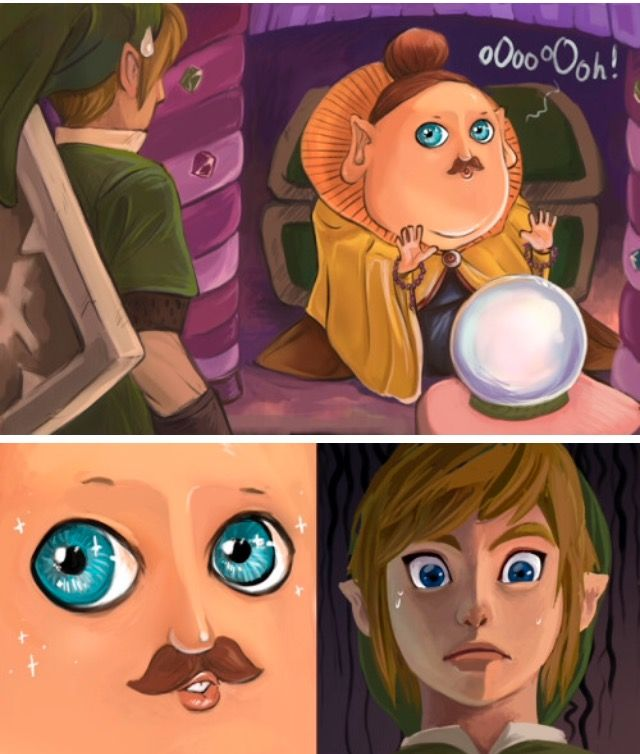 Talking to the fortune teller in skyward sword