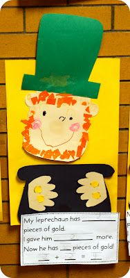 Great kinder teacher website with super cute ideas.  I liked this one for St. Patrick's day