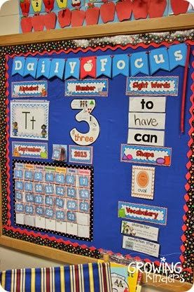 Love this idea...a daily focus chart in your meeting area to review the important stuff each day.