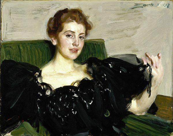 Mrs. Lucy Turner Joy -  Anders Zorn (Swedish Painter, 1860 - 1920)