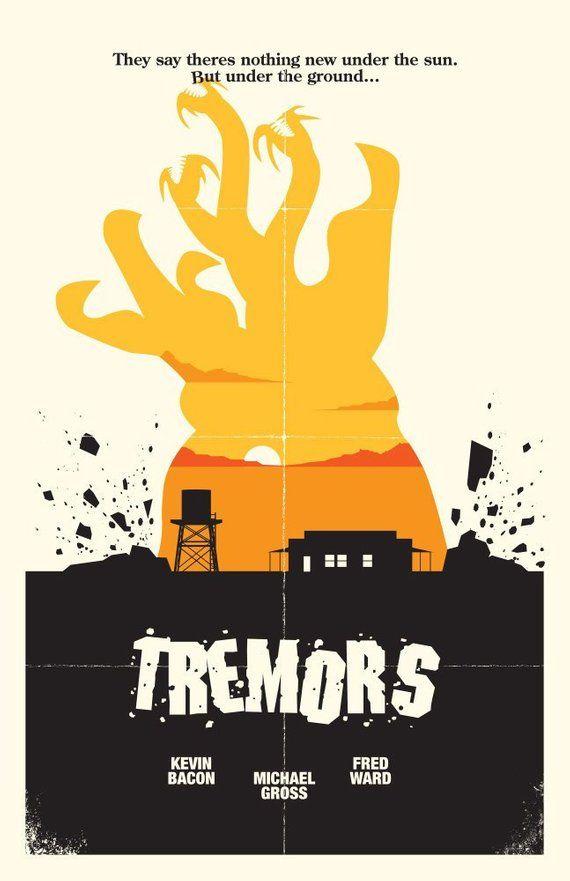 Tremors Alternate Movie Poster Print 11x17 Digital Print For 12 S H In 2020 Movie Posters Poster Prints Movie Posters Minimalist