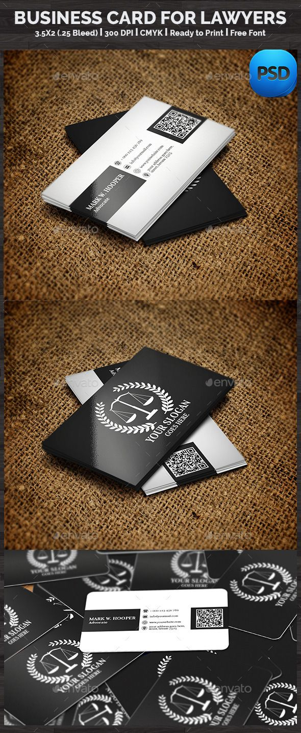 Creative Lawyer Business Card Businesscards Printready
