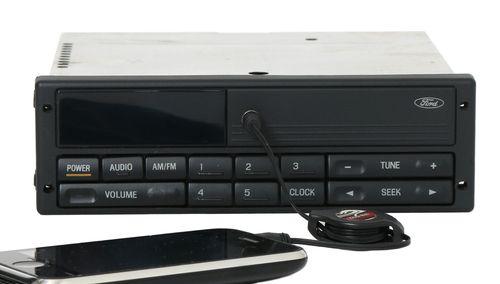 92-00 Ford Taurus Windstar Mercury Sable AM FM Radio w Aux Input F68F-19B131-BA
