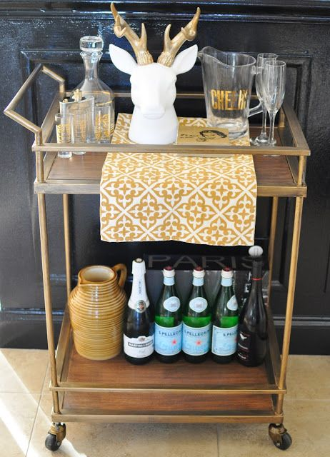 Target Wedding Registry - Be Yourself, Together - a bar cart - the gift that keeps giving: