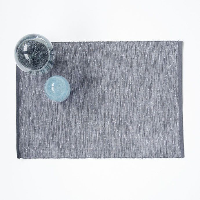 Image 1 of the product Rectangular silver cotton placemat (set of 2)