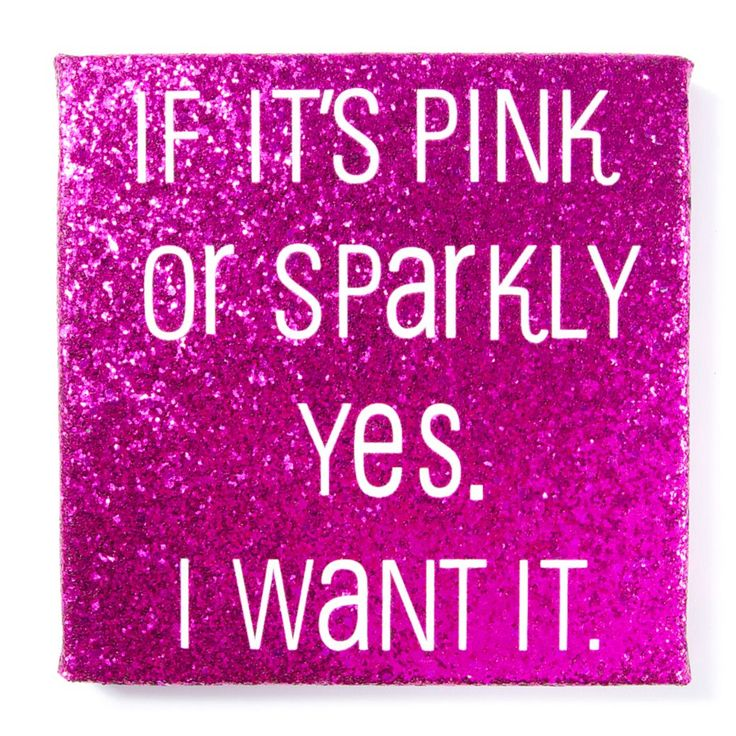 If it's Pink Glitter Wall Canvas | Icing