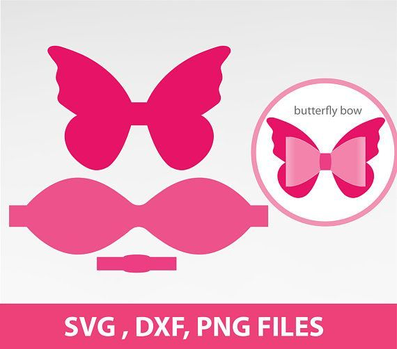 Butterfly Bow Svg Bow Svg Scalloped Bow SVG Large 3D Bow