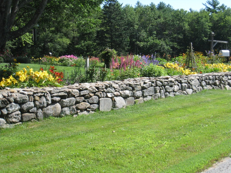 Gardens Bordering Stone Walls,Hope Maine