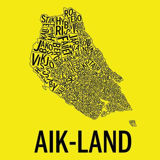AIK-land i färgen gul