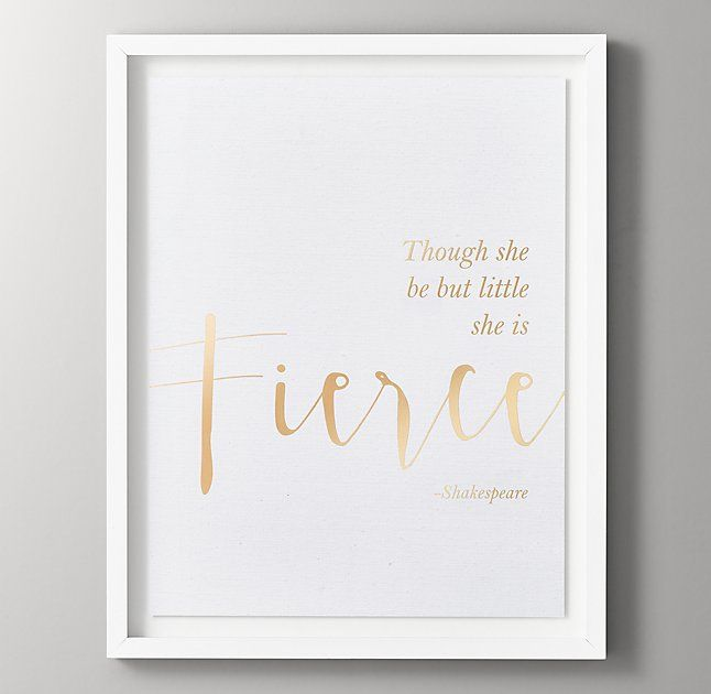 Quotes Gold Metallic Foil Art - She is Fierce