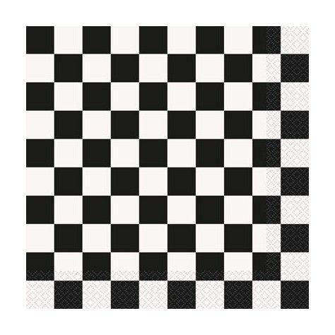 Χαρτοπετσέτες καρό ασπρόμαυρες - sweebies