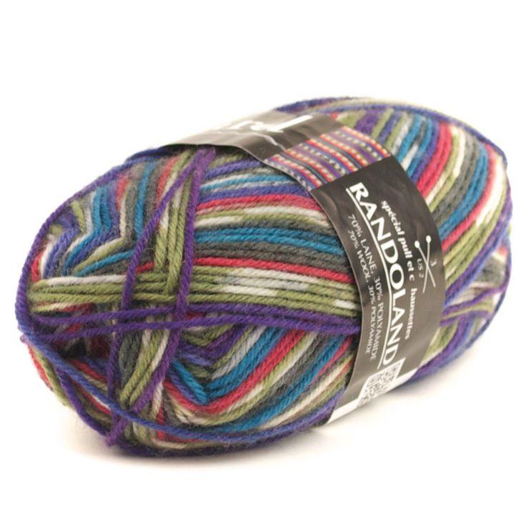 Randoland de Plassard 70% laine, 30% polyamide 70% wool, 30% polyamide