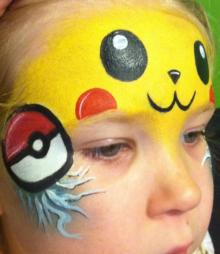 Pokémon face paint half face