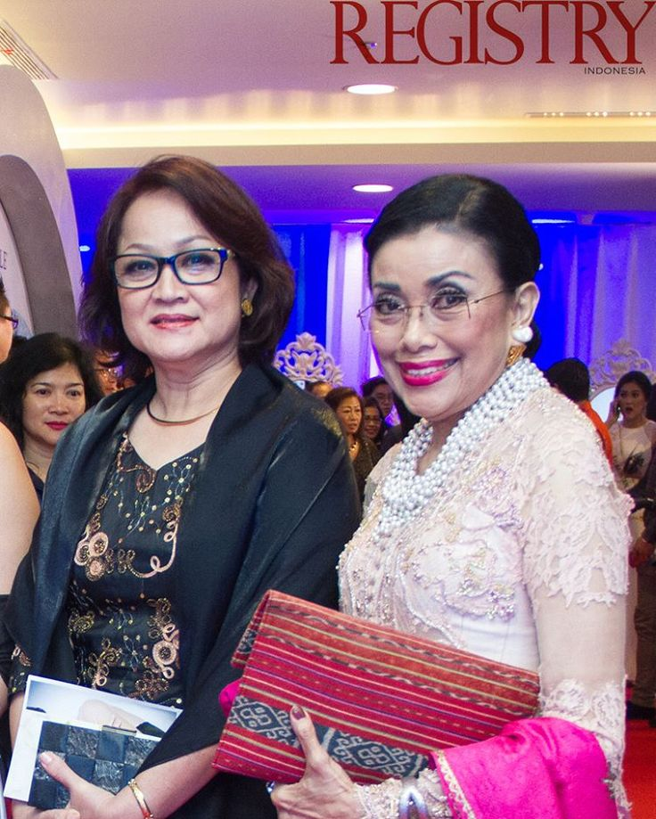 Madame Sabai Win & Mrs. Mien Uno at @MissIndo_RCTI Final Night took place at Studio RCTI Jakarta on the 24th February 2016 #RegistryE #Event