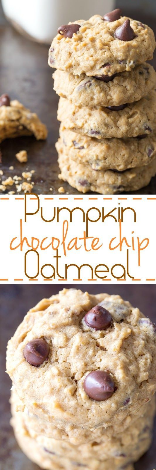 You are going to love these easy pumpkin chocolate chip and oatmeal cookies…