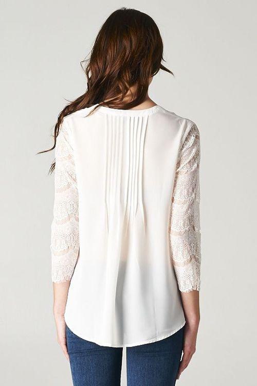 Lace Pintuck Tunic