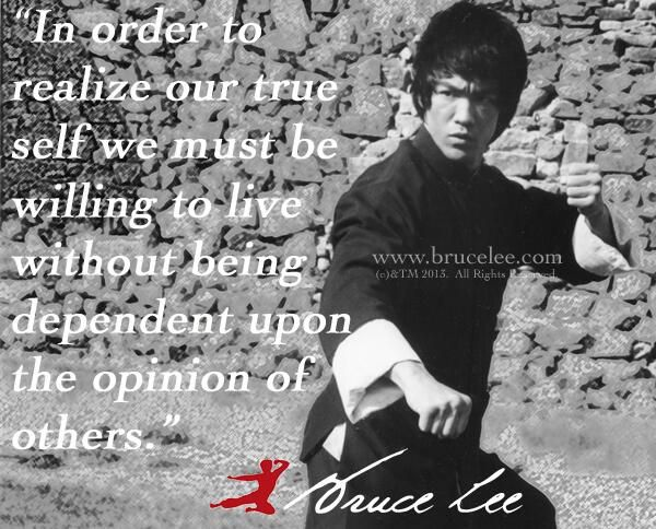 The bruce lee legacy - your worth is not based upon someone's inability to see it...x