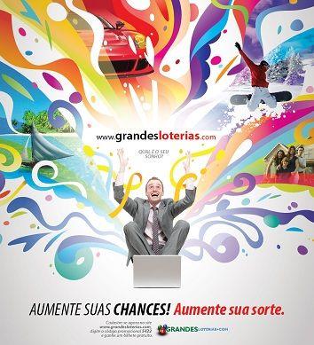 GrandesLoterias.com kolorowo reklamuje w Brazylii