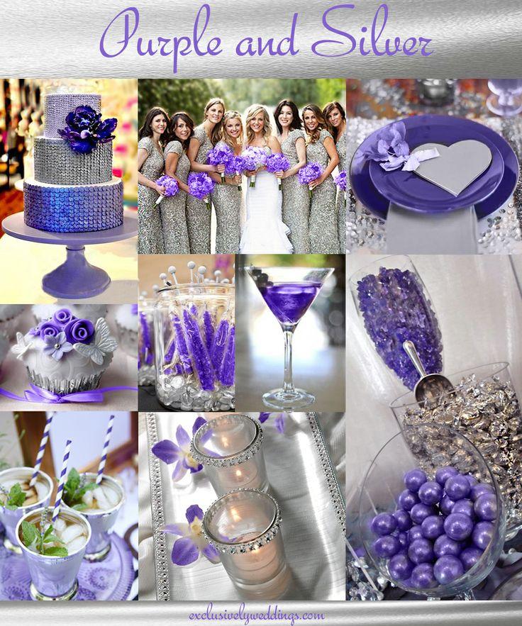 Purple Colour Scheme: 135 Best Wedding Decor Images On Pinterest