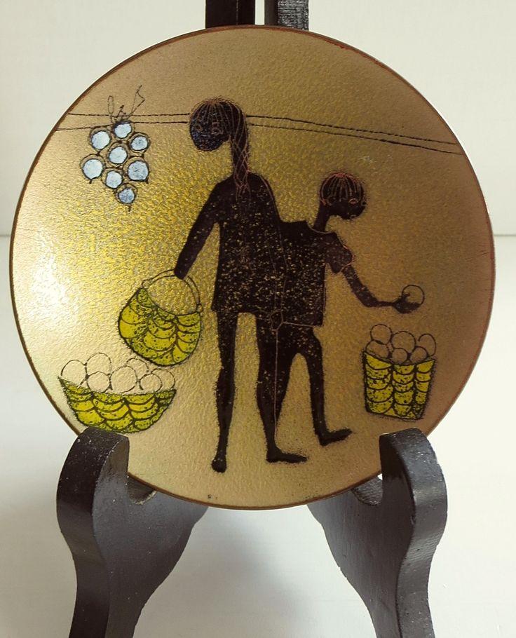 De Passille-Sylvestre enamel on copper plate / dish.