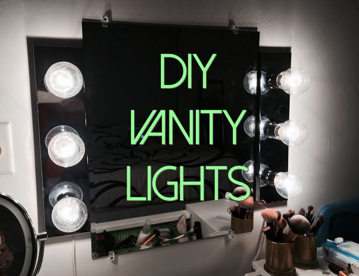 Bathroom Vanity Extension diy vanity light mirror - easy & quick (lisapullano) - youtube