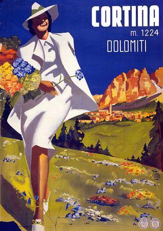 Cortina, Italy.  1932  http://www.vintagevenus.com.au/vintage/reprints/info/TV264.htm