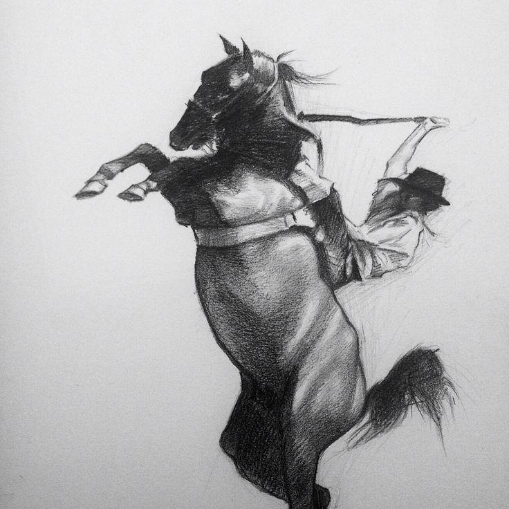 """Hernan Santucho performing Argentine rodeo """"Jinetada"""""""