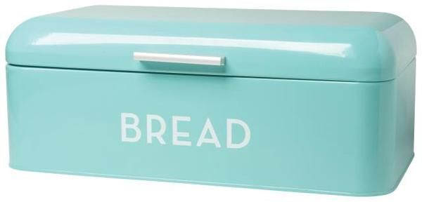 Long and lean, this metal bread bin will provide a home for buns, baguettes and bagels alike. The lid swings up easily, and small holes in the back allow for ai