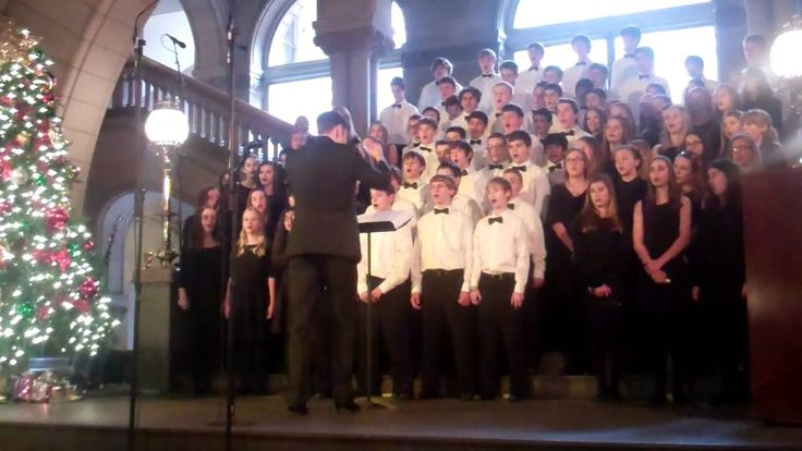 "The Jefferson Middle School 8th Grade Chorus performs ""Let It Snow"" at the 46th Annual Holiday Choral Program at the Allegheny County Courthouse."