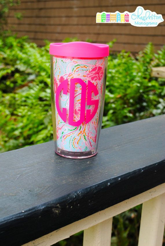 Lilly Pulitzer Monogrammed Insulated Tumbler Jellies be Jammin