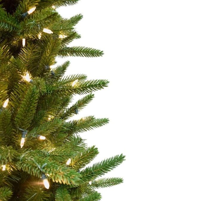 Fraser Hill Farm 6 5 Ft Pine Pre Lit Traditional Slim Artificial Christmas Tree With 550 Multi Function White Clear Led Lights Lowes Com Slim Artificial Christmas Trees Artificial Christmas Tree Artificial Christmas Tree Stand