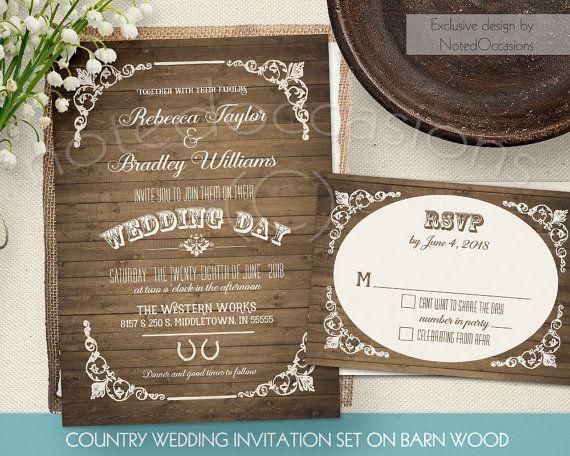 Rustic Western Wedding Invitations: 17 Best Images About 1 Rustic Wedding Invitations Designs