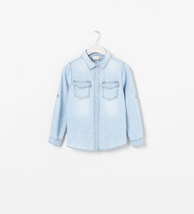 Zara Girls denim shirt