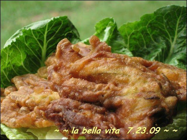 Fried Zucchini Blossoms / Fiori di Zucchini Fritti in Pastella from La Bella Vita Cucina
